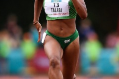 14 August 2019; Adeyemi Talabi of Ireland competing in the Women's 100m B event, sponsored by Centra, during the BAM Cork City Sports at CIT Athletics Stadium in Bishopstown, Cork. Photo by Sam Barnes/Sportsfile