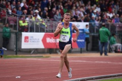 14 August 2019; Shane Healy of Metro St Brigids, AC, Co. Dublin, competing in the Men's 3000m event, sponsored by John Buckley Sports, during the BAM Cork City Sports at CIT Athletics Stadium in Bishopstown, Cork. Photo by Sam Barnes/Sportsfile