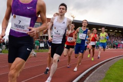 14 August 2019; Mark English of Ireland, centre, competing in the Men's 800m event, sponsored by Cork City Council, during the BAM Cork City Sports at CIT Athletics Stadium in Bishopstown, Cork. Photo by Sam Barnes/Sportsfile