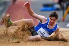 14 August 2019; Luke O'Carroll of Ireland competing in the Men's Long Jump event, sponsored by Cork Airport, during the BAM Cork City Sports at CIT Athletics Stadium in Bishopstown, Cork. Photo by Sam Barnes/Sportsfile