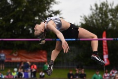 14 August 2019; Eleanor Patterson of Austria competing in the Women's High Jump event, sponsored by AON Hewitt, during the BAM Cork City Sports at CIT Athletics Stadium in Bishopstown, Cork. Photo by Sam Barnes/Sportsfile
