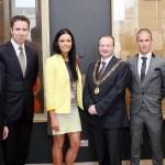 Ruairi O'Connor, Marion Heffernan, Chris O'Leary (Lord Mayor, Cork City Council) & Rob Heffernan